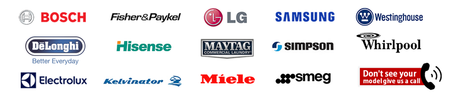 All the home appliance brands we services